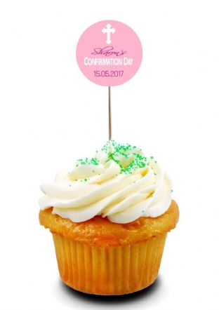 Girl Confirmation Cupcake Topper 1